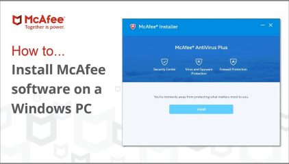 How to Install McAfee Antivirus Product (MCPR) Software?